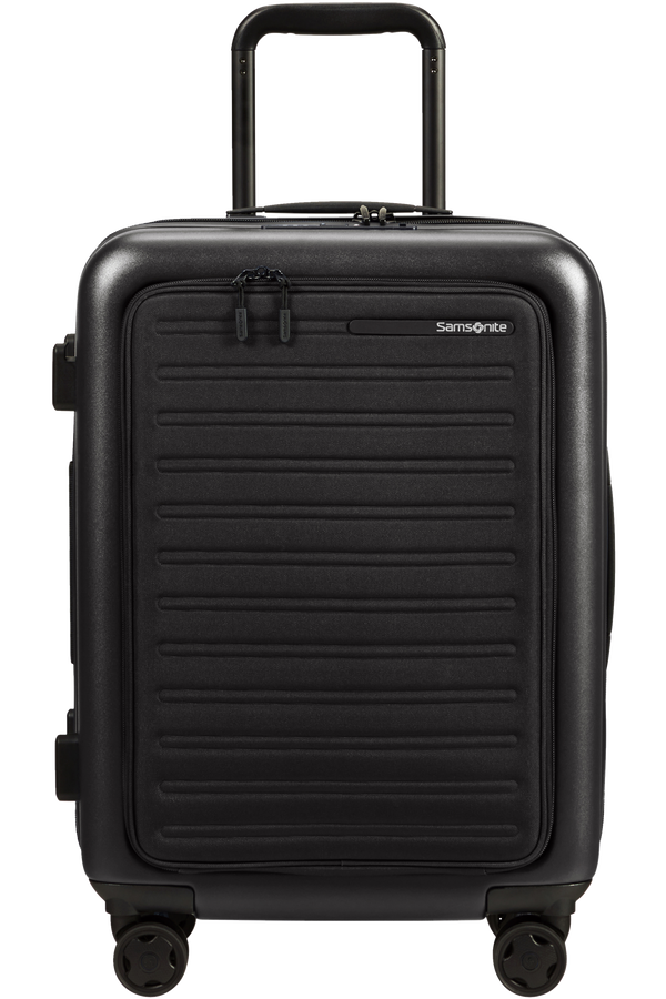 Samsonite Stackd Spinner Expandable Easy Access 55cm  Black