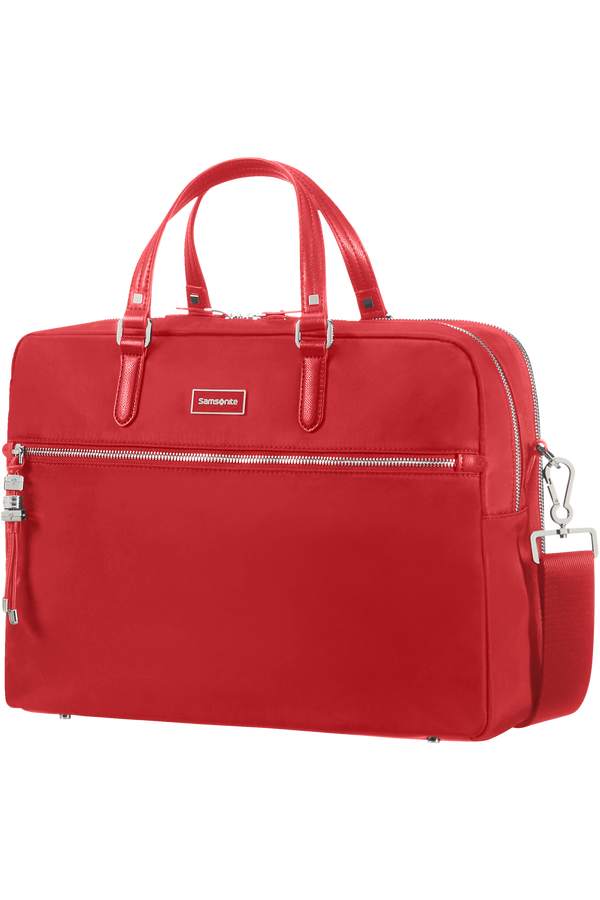 Samsonite Karissa Biz Bailhandle with 2 Compartments  15.6inch Formula Red