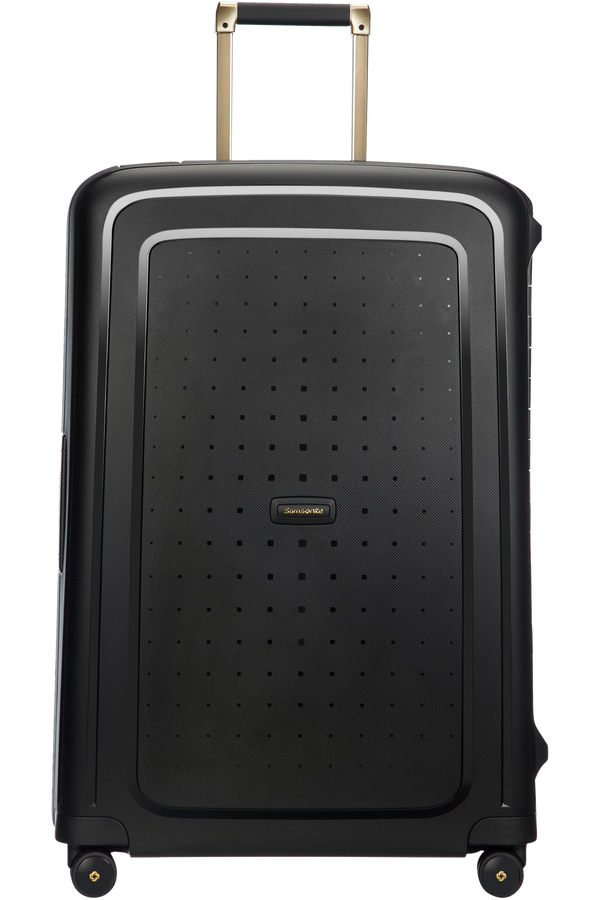 Samsonite S'Cure DLX Spinner 75cm/28inch  Black/Gold Deluscious