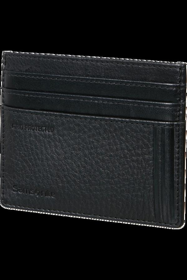 Samsonite Double Leather Slg 732 - 6CC H S  Black
