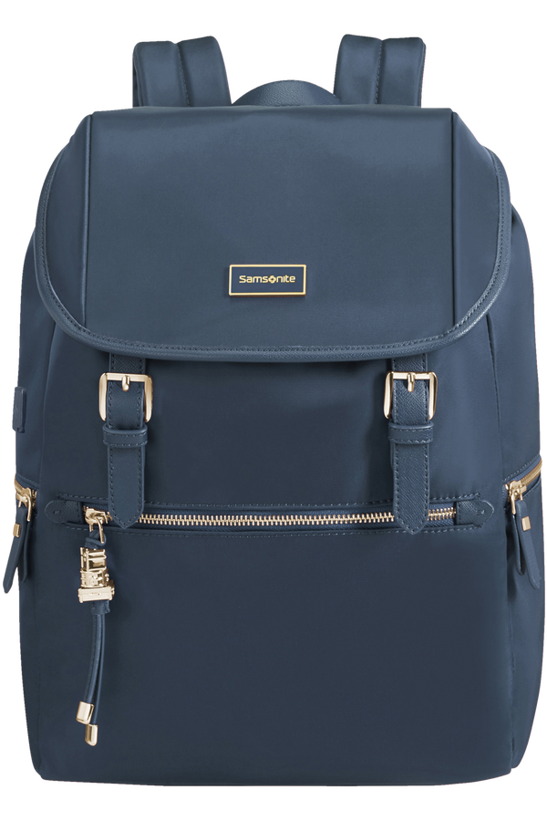 Samsonite Karissa Biz Backpack 14.1'+Flap W/Usb  Dark Navy