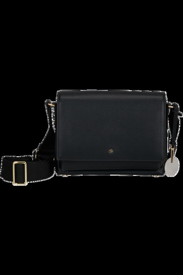 Samsonite Roundtheclock Shoulder Bag + Flap  Black